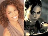 Michelle Van Der Water, left, and the video game character she plays, Sheva Alomar.